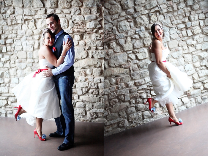 Abiti da sposa con un tocco di rosso