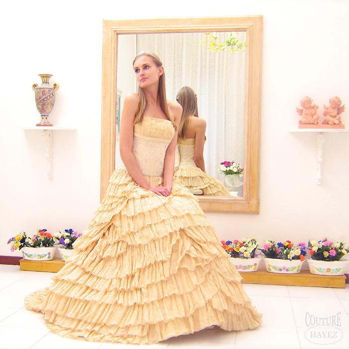 07babf3597e8 Abiti Sposa Colorati  Oro - Couture Hayez Milano