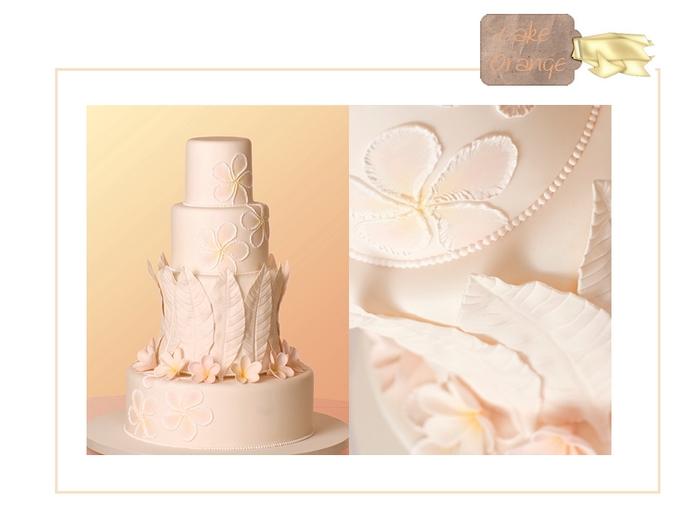 orange, torte nuziali colorate, foto torte, cake 4 piani, cake 5 piani
