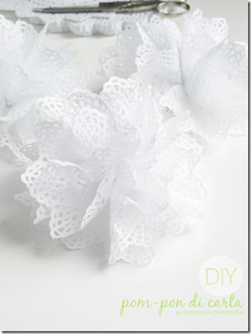 DIY doilies pompon {handmade by Ghirlanda di Popcorn}