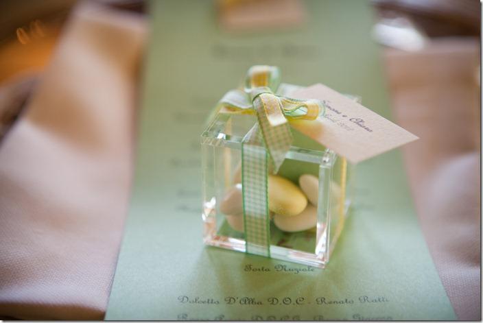 cadeaux mariage, bomboniera, sacchetto portaconfetti, foto bomboniere plexiglas,scatoline trasparenti confetti, nastrini country
