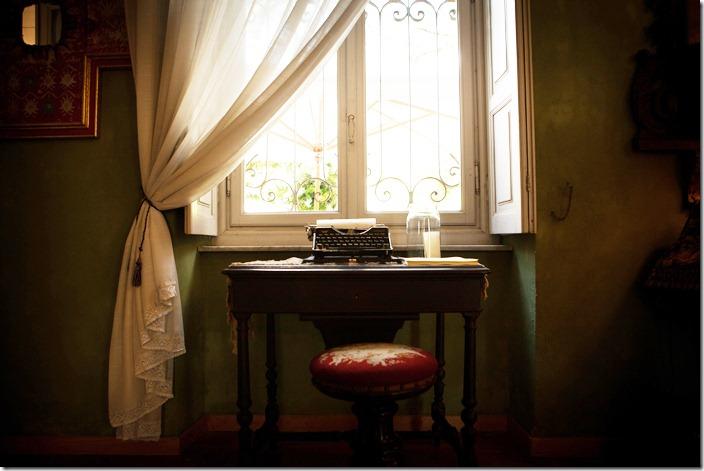 libro degli ospiti, macchina da scrivere vintage, angolo vintage,pensieri per gli sposi,
