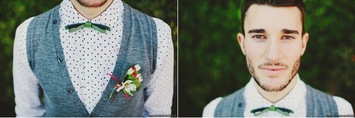 abito sposa alternativo, shooting wedding, bouttoniere bianca e rossa, ispirazini sposo,