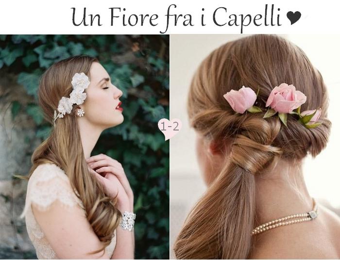 Eccezionale Acconciature Sposa : Un fiore tra i capelli lunghi e con trecce  FU95