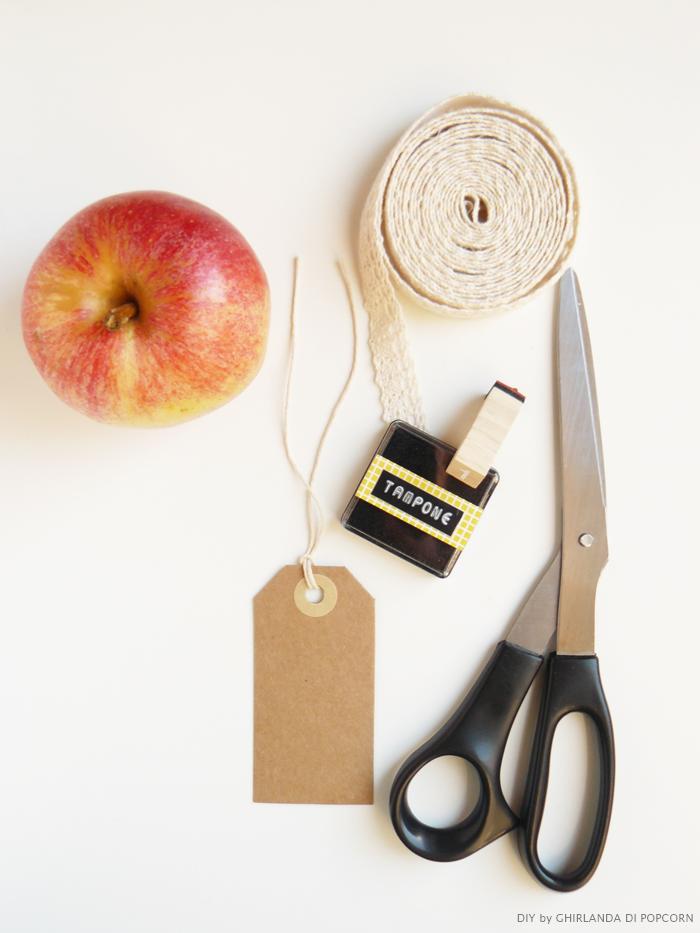 materiali apple-table number {Ghirlanda di Popcorn}, tutorial segnaposto wedding, come fare dei segnaposto colorati,