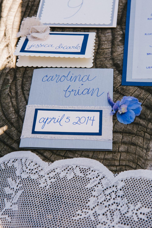 stationary bianca e azzurra agreste, matrimonio in giardino,