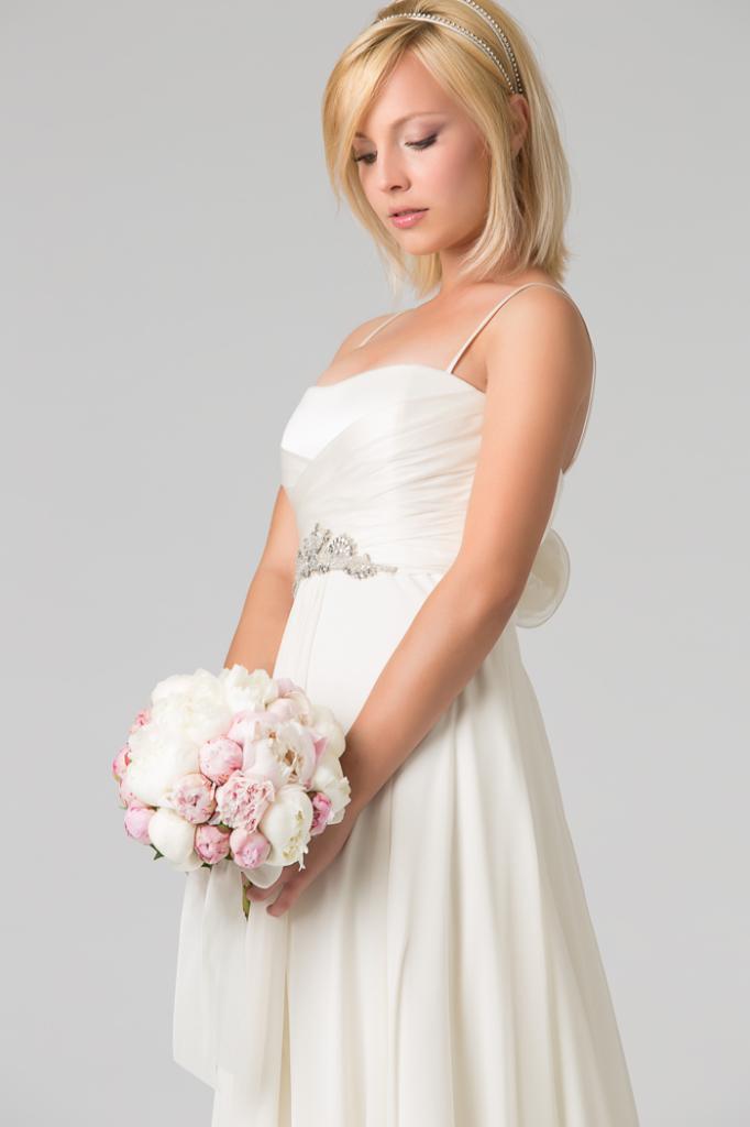 Amato Un abito da Sposa in georgette di seta - Couture Hayez Milano JK51