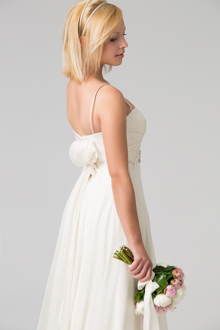 Estremamente Un abito da Sposa in georgette di seta - Couture Hayez Milano NK48