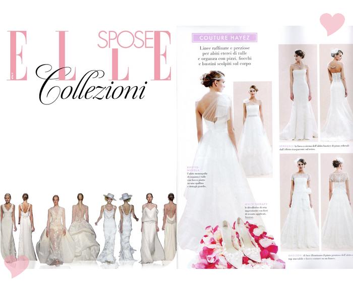 Sposa Magazine, elle sposa collezioni, couture hayez on elle sposa,