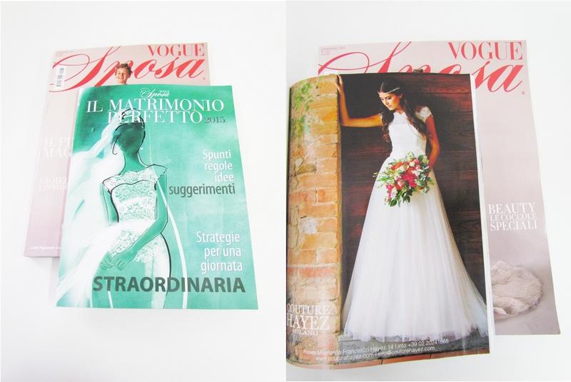 couture hayez su vogue sposa, riviste e magazine sposa, couture hayez press, couture hayez nel matrimonio perfetto, couture hayez press area ,