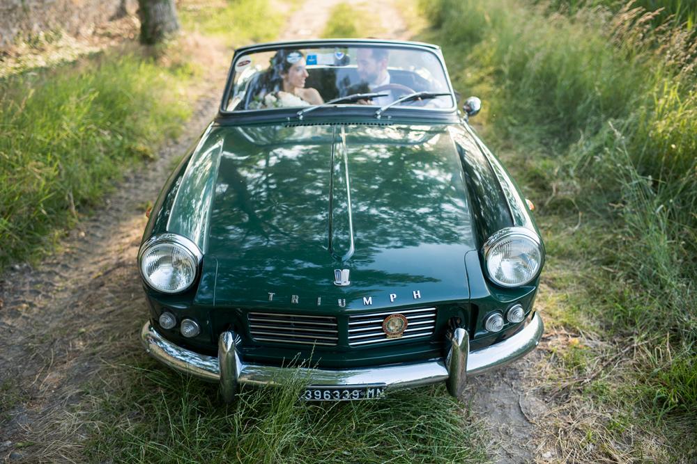 automobile matrimonio vintage triumph decappottabile