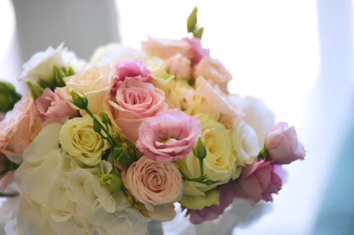 bouquet-sposa-toni-pastello-rose-ortensie