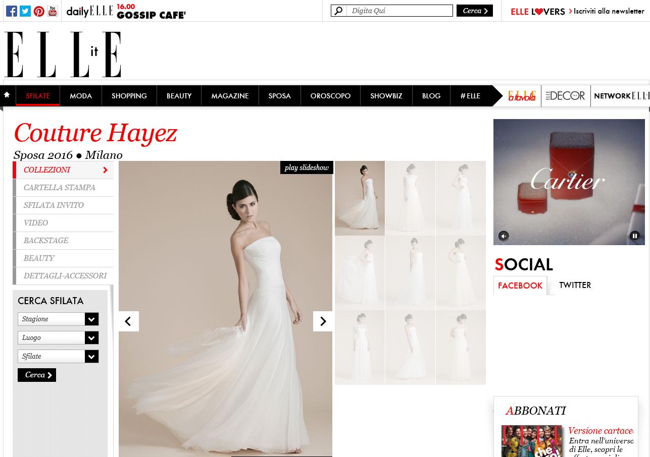 Couture Hayez su Elle Web Sfilate