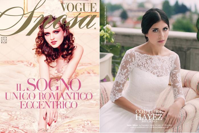 vogue sposa, vogue sposa gennaio. vogue 2016, couture hayez su vogue sposa , top magazine, sposa magazine, il meglio per la sposa