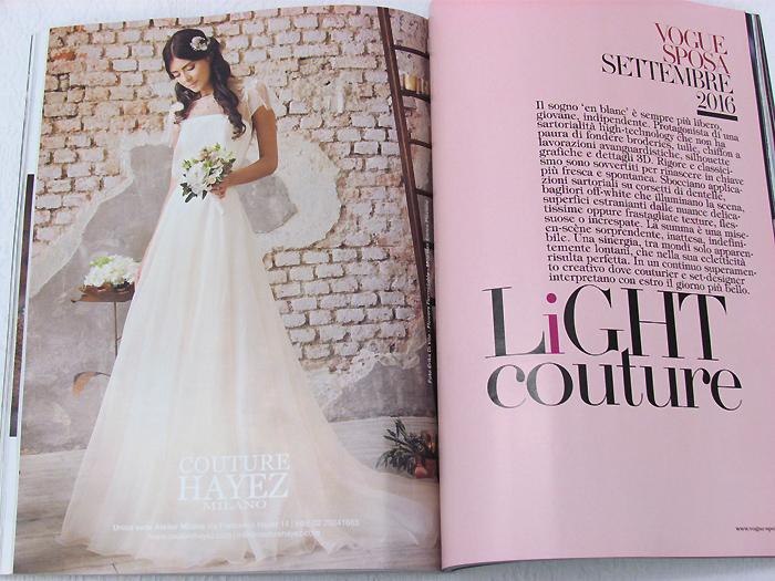 couture hayez su vogue sposa settembre, wedding magazine, couture, haute couture, sposa alta moda