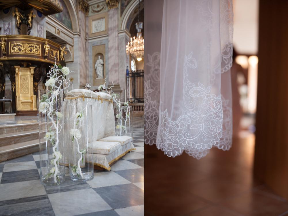 velo sposa con pizzo, velo bordo pizzo couture hayez, allestimento altare bianco