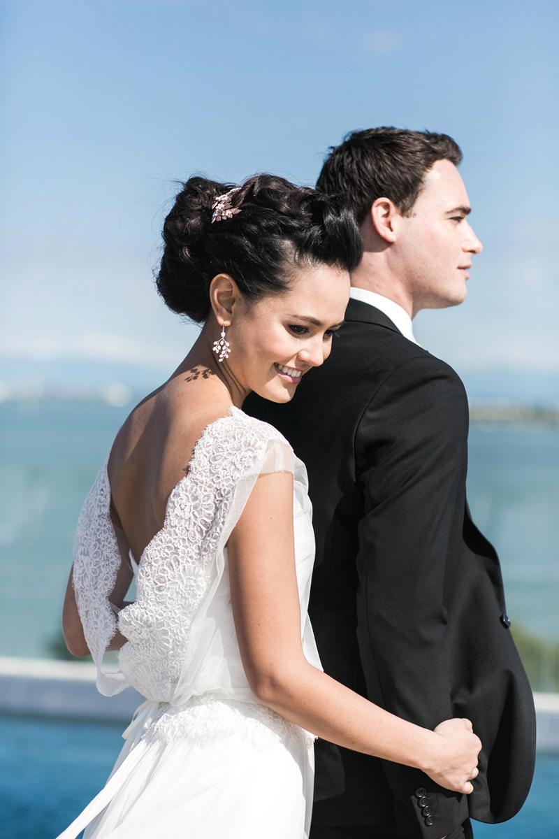 coppia sposi, lusso a venezia, acconciatura sposa