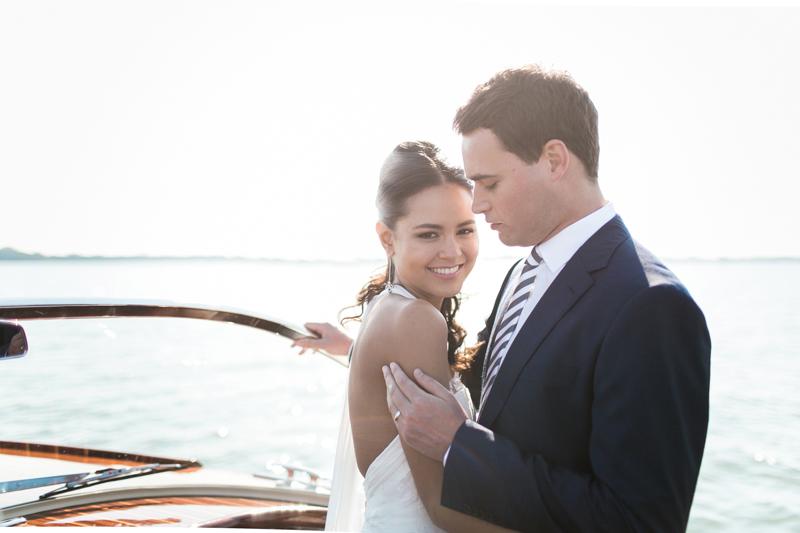 water limousine, sposi sul mare