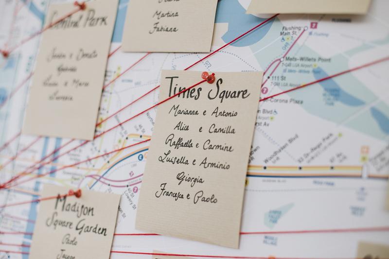 tableau mariage alternativo, ispirazione tebleau New York, tableau a tema viaggio