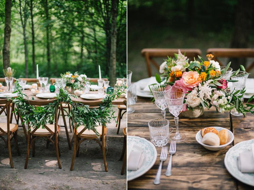 allestimento tavolo imperiale, candele, bouquet fiori natural, cristalli