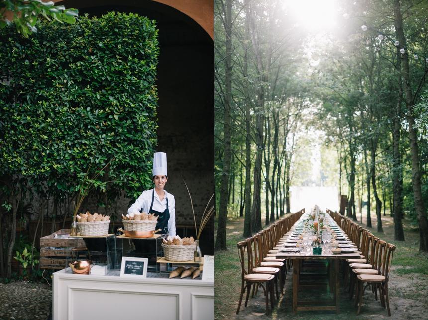 tavolo imperiale nel bosco, allestimento tavolo le jour du oui,