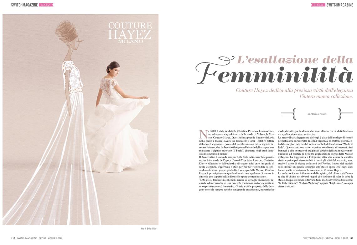 articolo sposa couture hayez