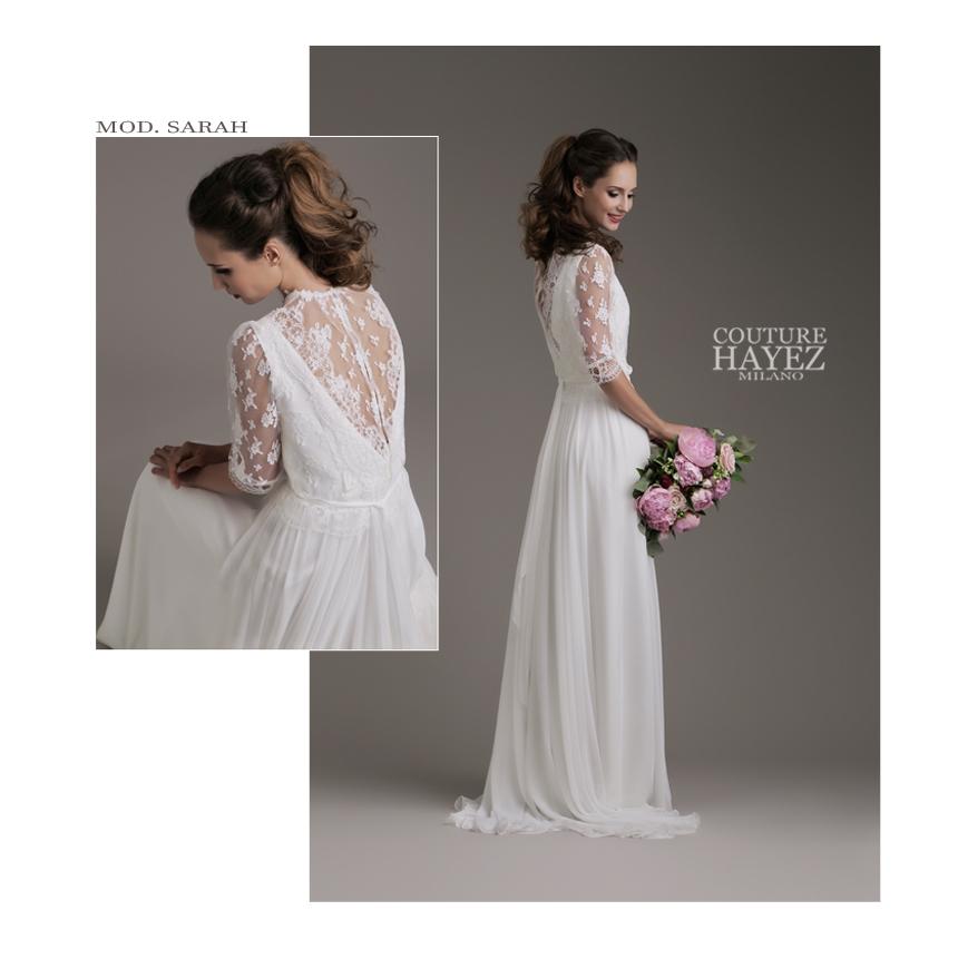 abito da sposa con maniche lunghe, spose 2019, blusa in pizzo, millenial bride, sposa vintage