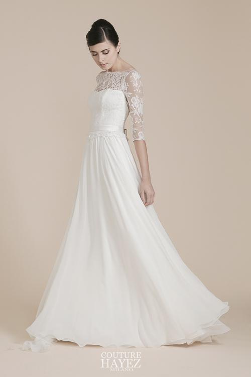 abiti da sposa con le maniche lunghe, abito sposa invernale, collezioni sposa 2019