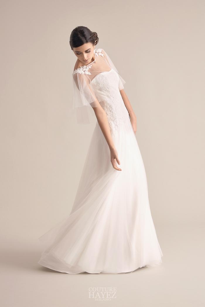 abito sposa tulle, abito sposa con pizzo, abito sposa con mantellina