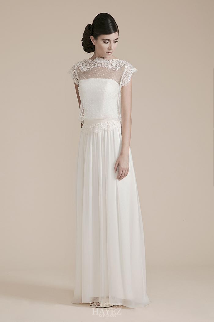 abito sposa scivolato, alta moda sposa, abito sposa plumetis