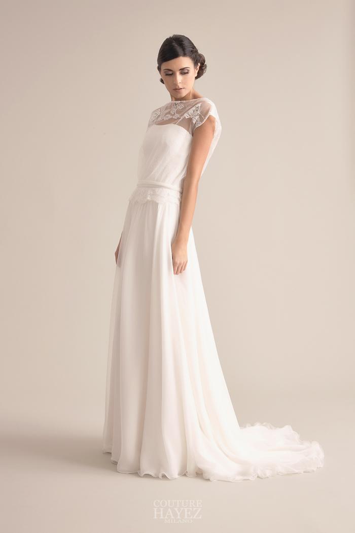 abito da sposa con blusa, abiti alta moda sposa, haute couture sposa milano