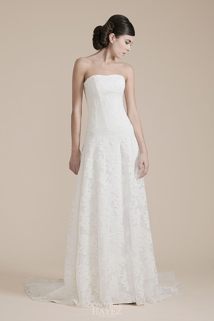 abito sposa tutto in pizzo, abiti sposa bustier, abiti in pizzo bianco