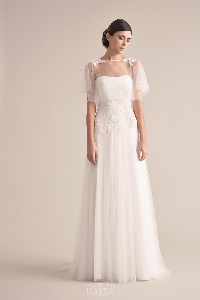 abiti sposa in tulle, abito sposa in pizzo, abito sposa fiori ricamati