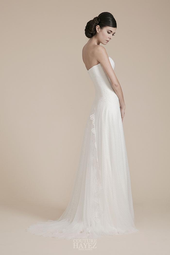 abito sposa gonna tulle, abiti sposa in tulle, abito sposa pois