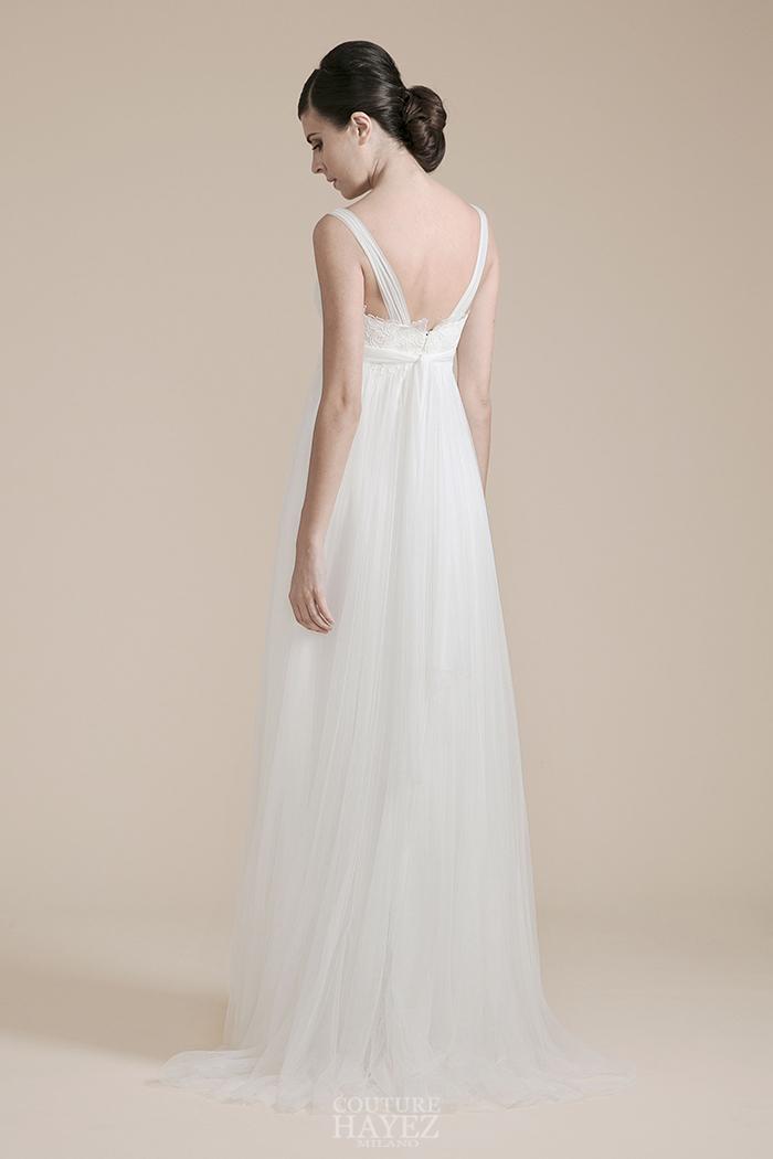 abito bianco in tulle, abito sposa etereo, abito sposa delicato