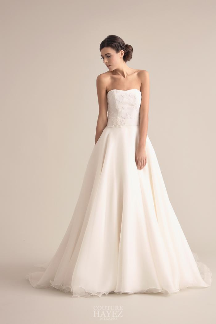 abito sposa ramage, abito sposa tagliato in vita, abito sposa stile anni '50