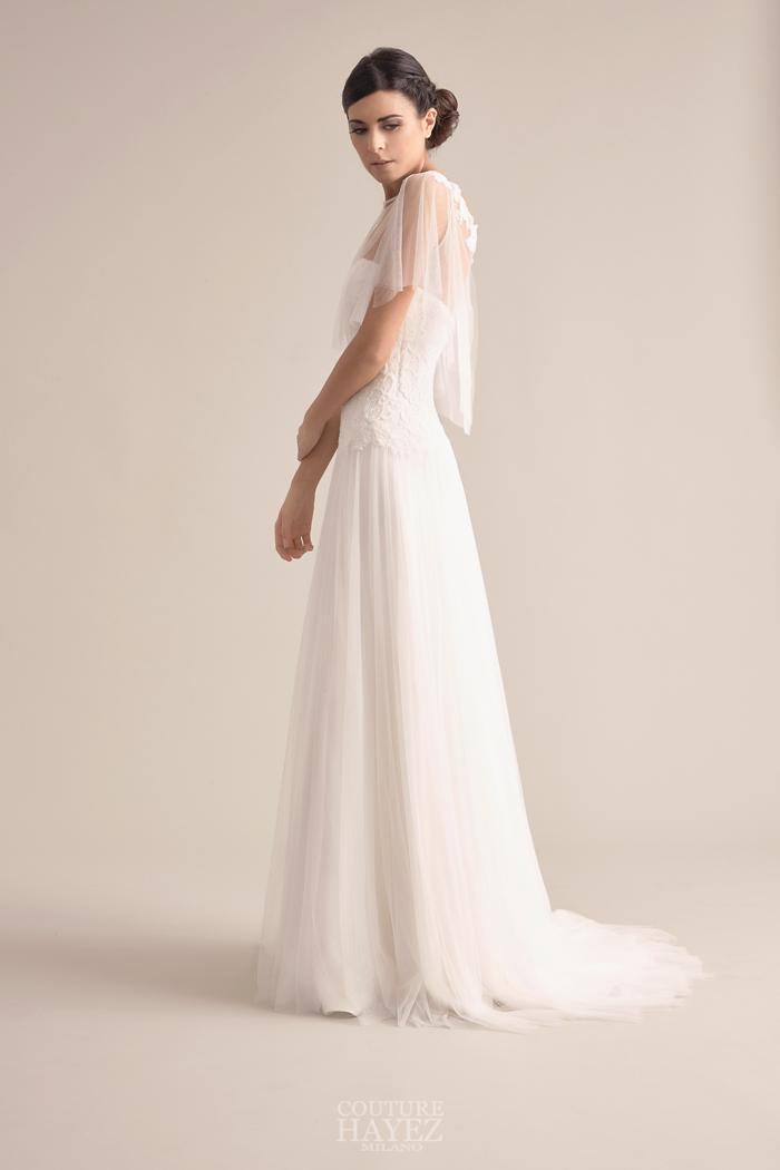 abiti sposa leggeri, abito sposa tulle morbido, alta moda sposa milano