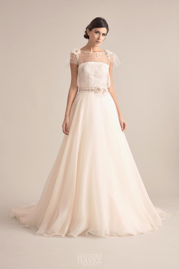 abiti sposa di lusso, abiti in organza seta, abito sposa ricamato a mano