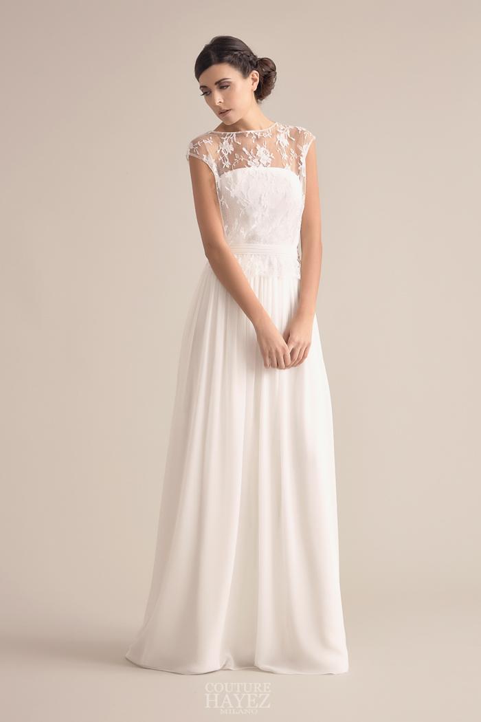 sposa spalle coperte, sposa coprispalle leggero, abito da sposa romantico
