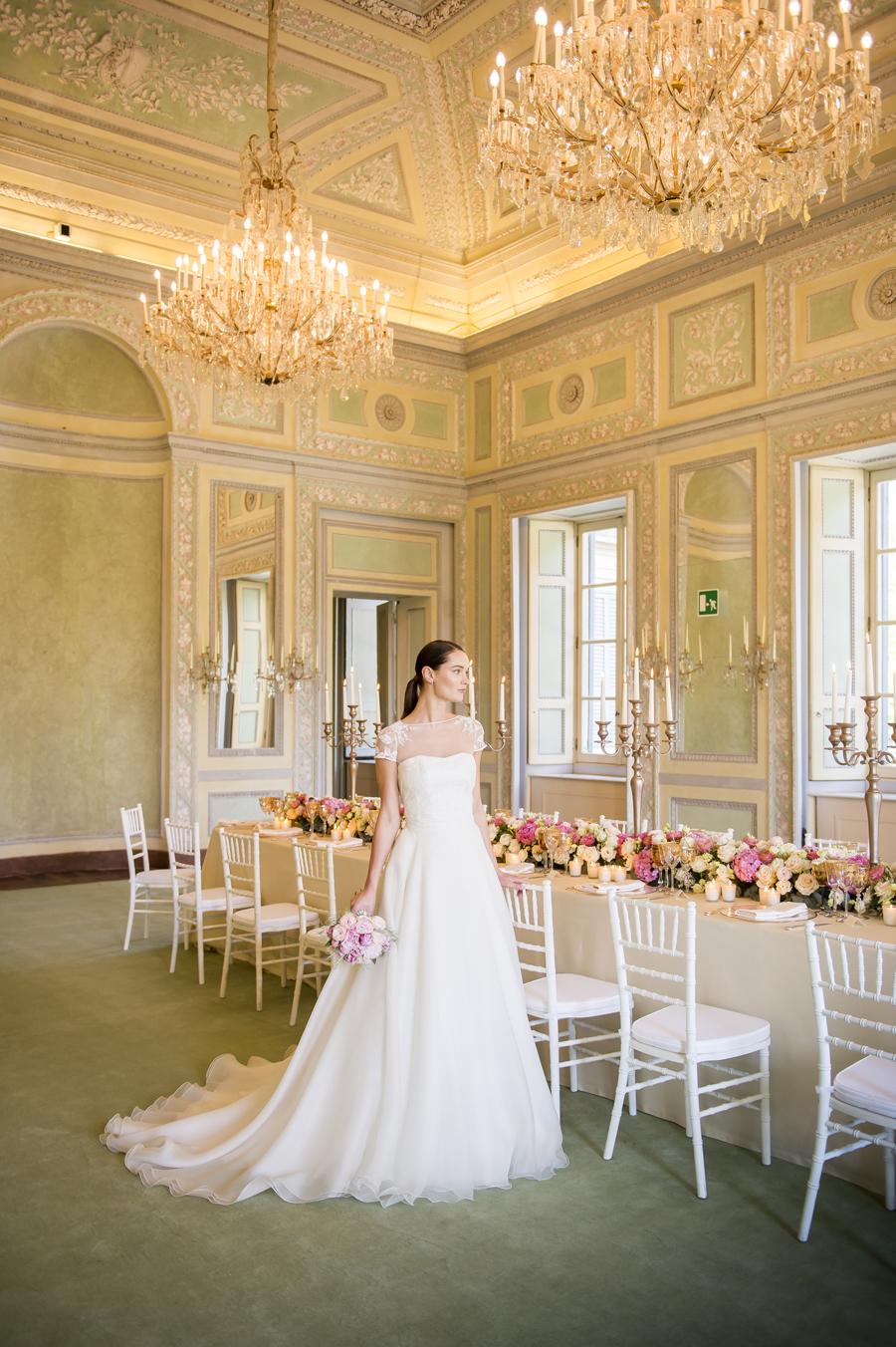 abito da sposa couturehayez modello sabrina alla reggia di monza