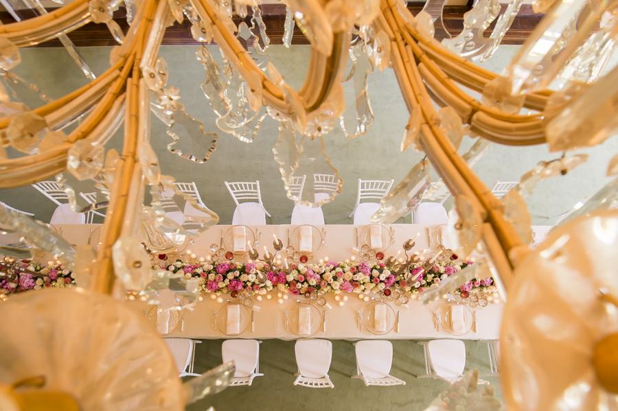 tavolo imperiale matrimonio, allestimento fiori florpassion, reggia di monza