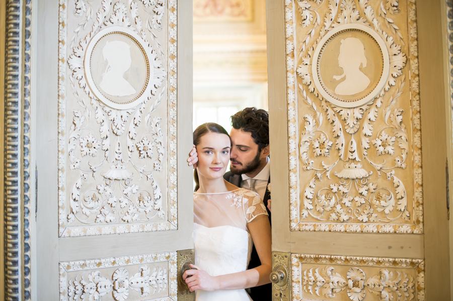 matrimonio alla reggia di monza, foto gabriele basilico, sposi insieme photo shooting