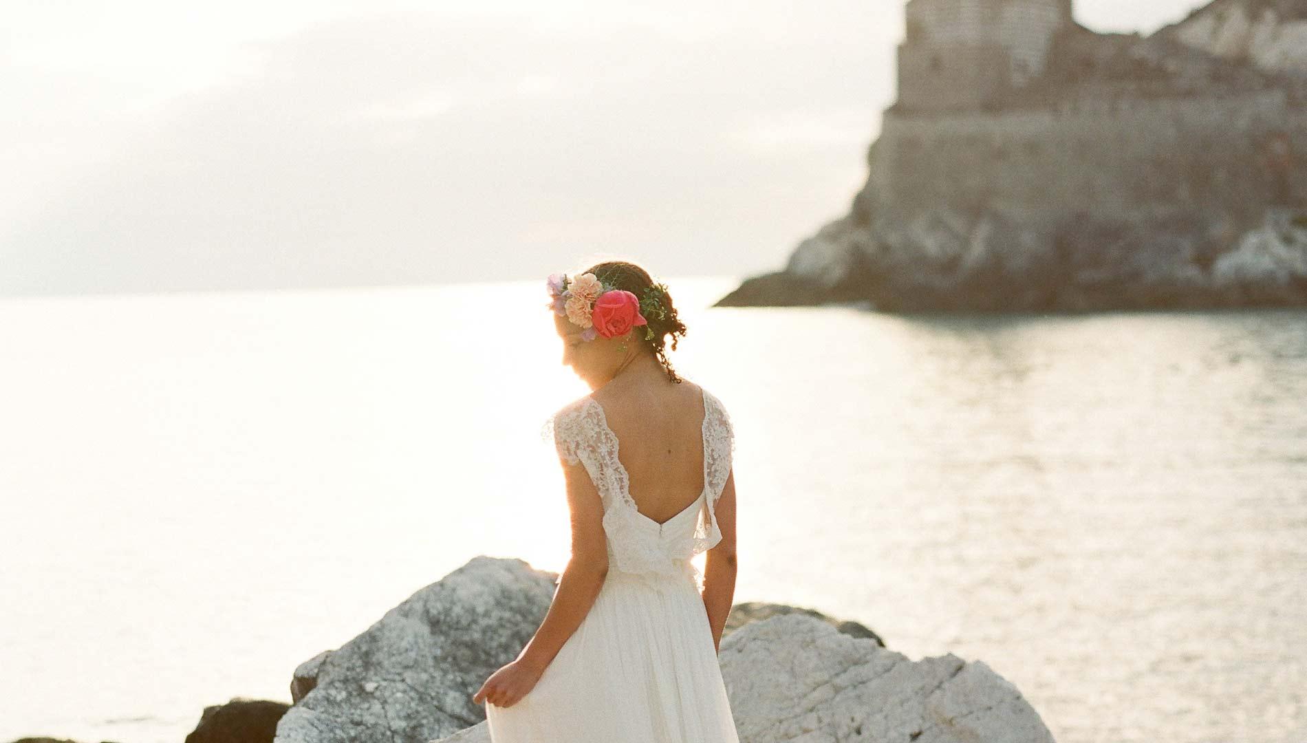 sposa bohemienne, boho, abiti da sposa vintage, sposa al mare