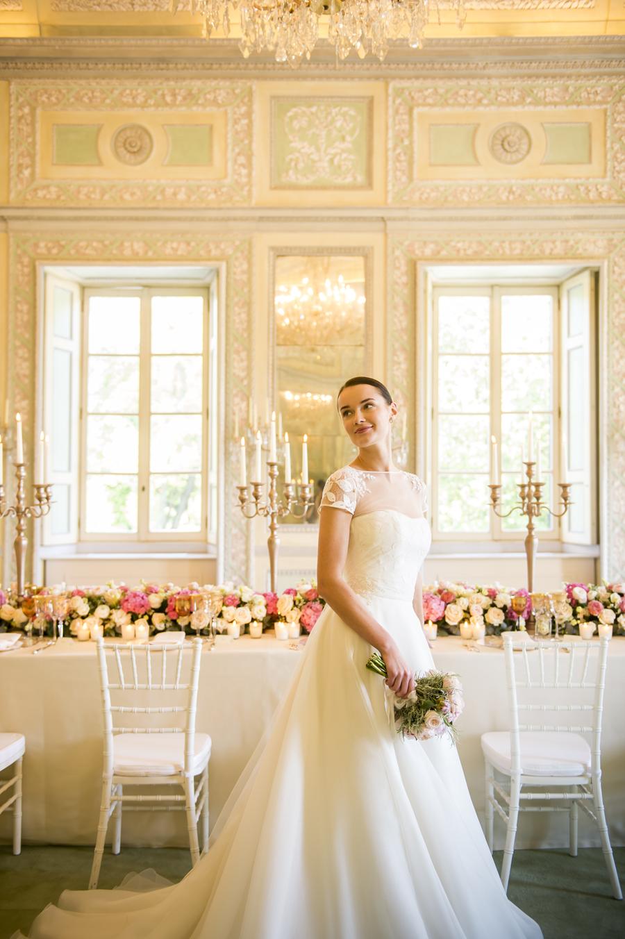 abito da sposa principessa couture hayez , matrimonio alla reggia di monza