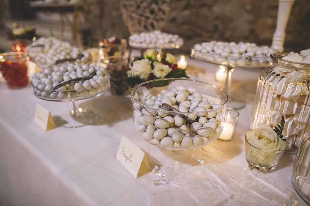 tavolo confettata romantica, confetti multigusti, confettata, confettata shabby