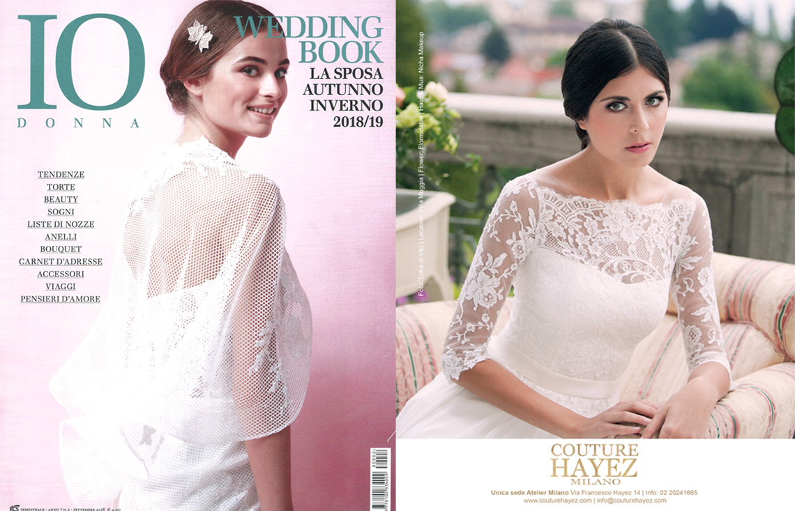 couture hayez su io donna wedding book