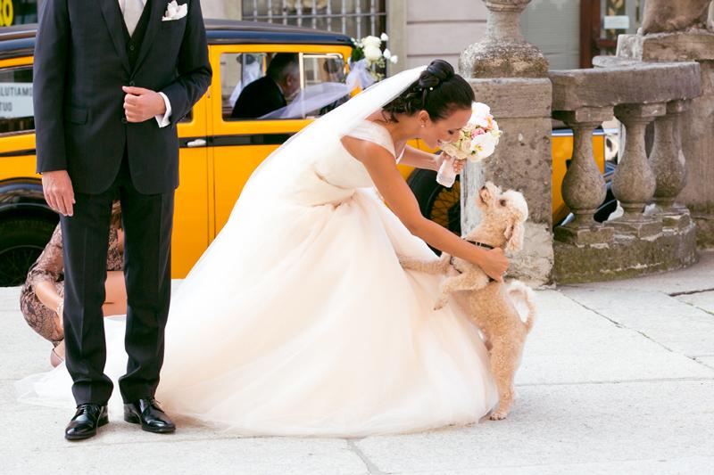 foto sposa, abito da sposa principessa in tulle cipria