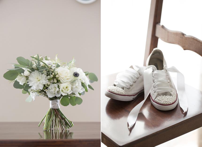 scarpe sneakers converse da sposa con perle e nastri