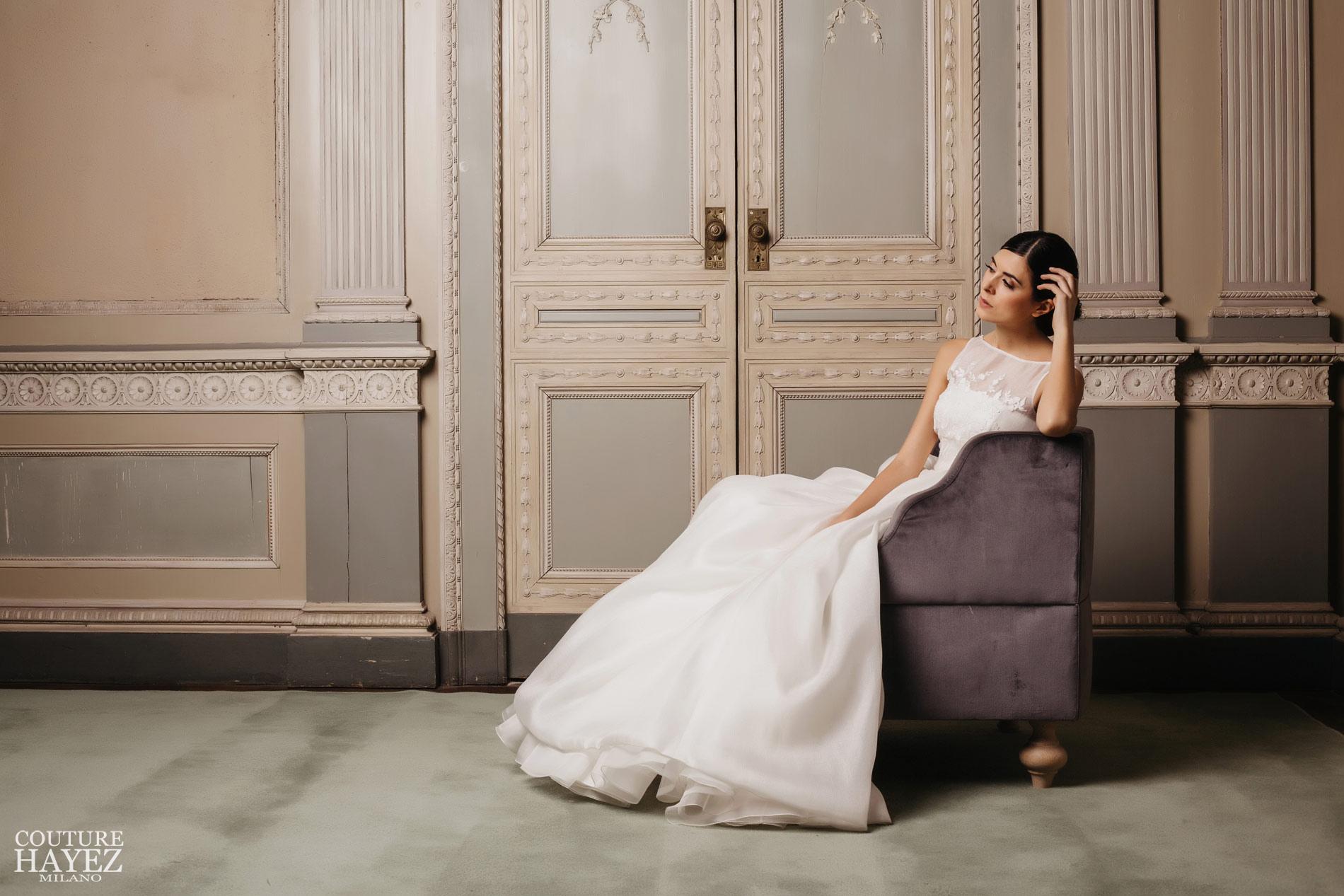 abito con corpetto ricamato collezione sposa 2019