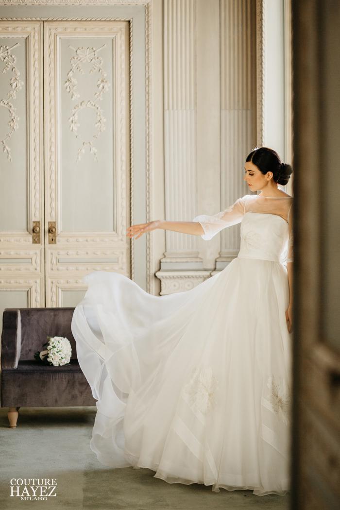 abito da sposa couture hayez alta moda 2019